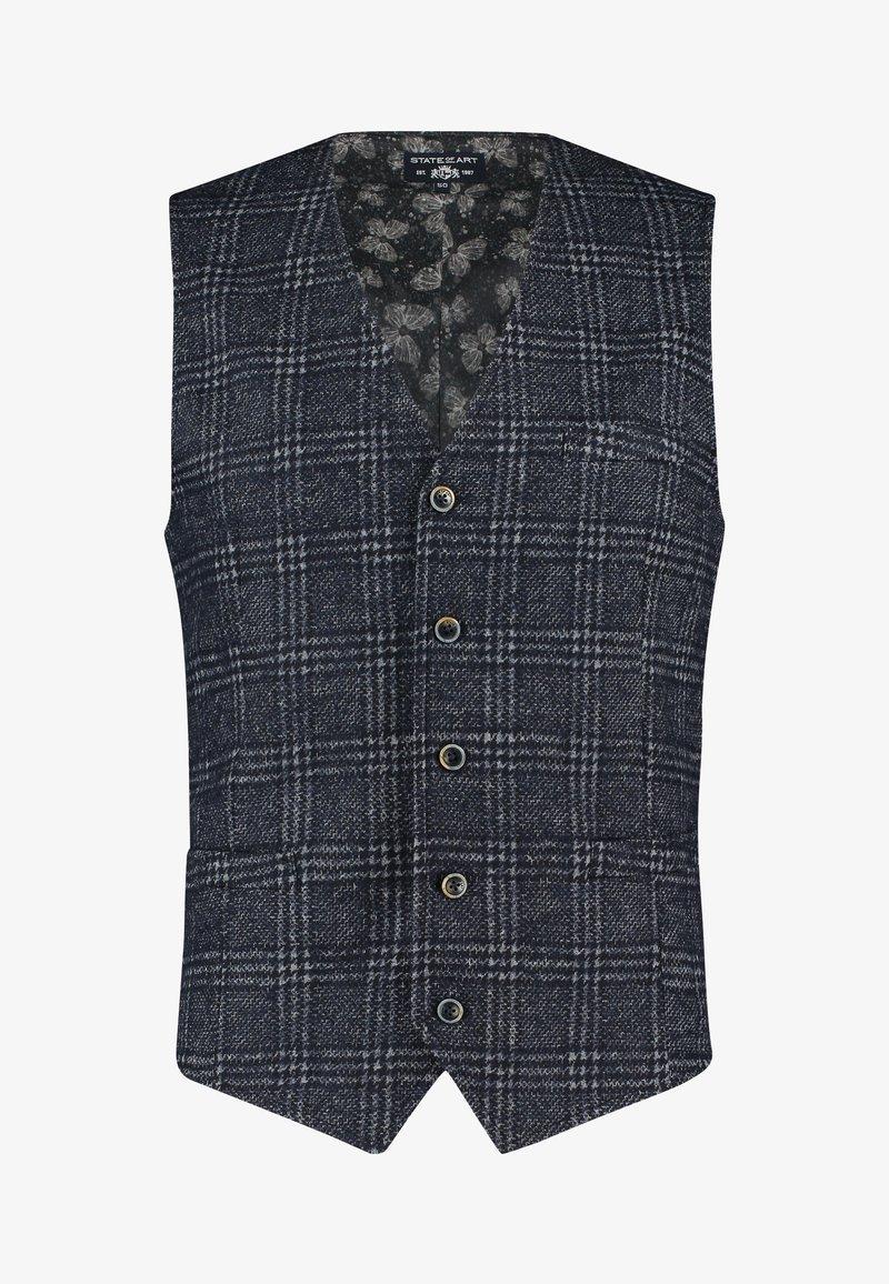 State of Art - Suit waistcoat - dark-blue plain