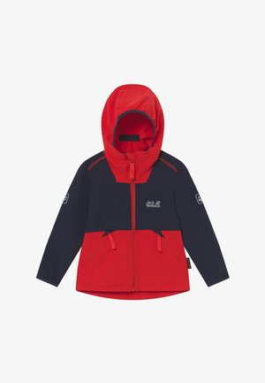 TURBULENCE BOYS - Softshellová bunda - peak red