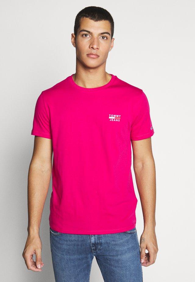 CHEST LOGO TEE - Triko spotiskem - bright cerise pink