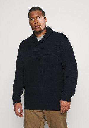 JJBRAD SHAWL NECK - Pullover - navy blazer