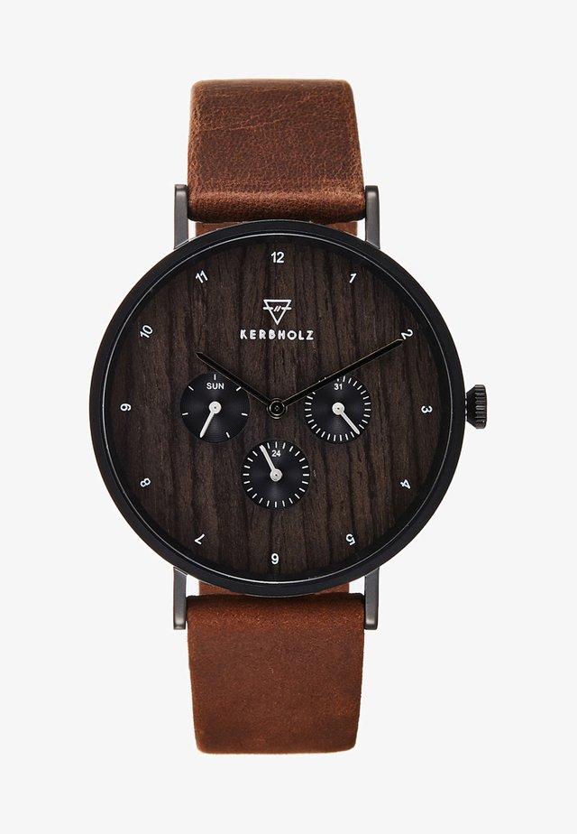 CASPAR - Chronograph watch - tobacco