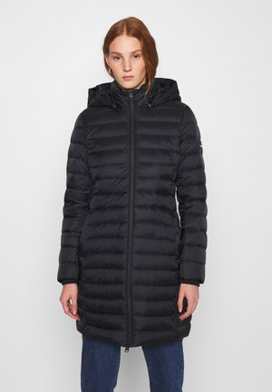 COATED ZIP LIGHT COAT - Płaszcz puchowy - black