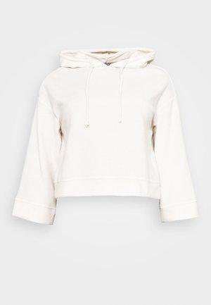 PCREBENA WIDE SLEEVE HOODIE LOUNGE - Bluza z kapturem - ecru