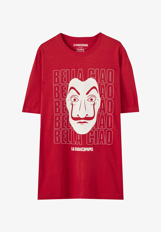 Pull Bear La Casa De Papel T Shirt Print Light Red Hellrot Zalando De