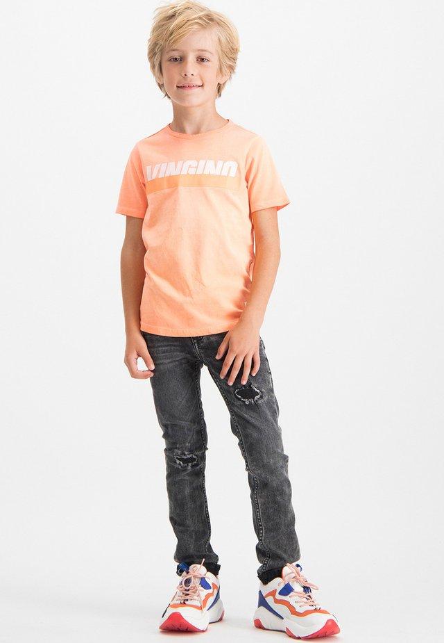 HIXX - Print T-shirt - neon orange