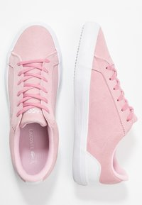 Lacoste - LEROND  - Trainers - pink/white - 3