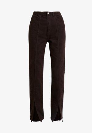 ALABAMA TROUSER - Straight leg jeans - dark brown
