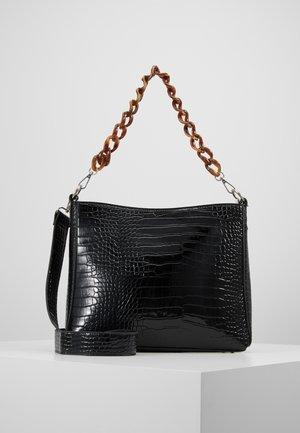 AMBLE CROCO - Handbag - black