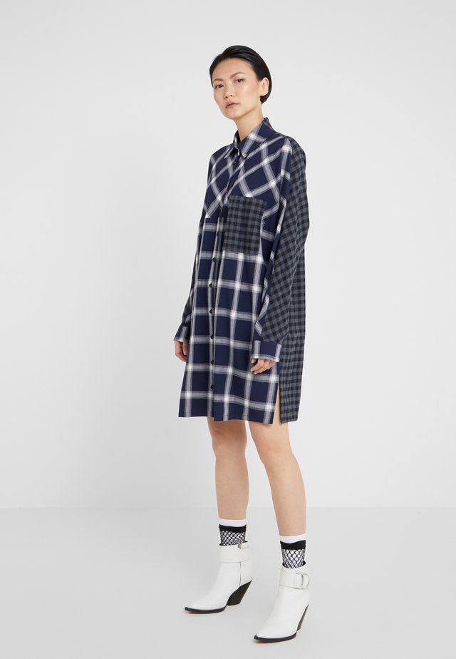 DRAPEY - Shirt dress - black