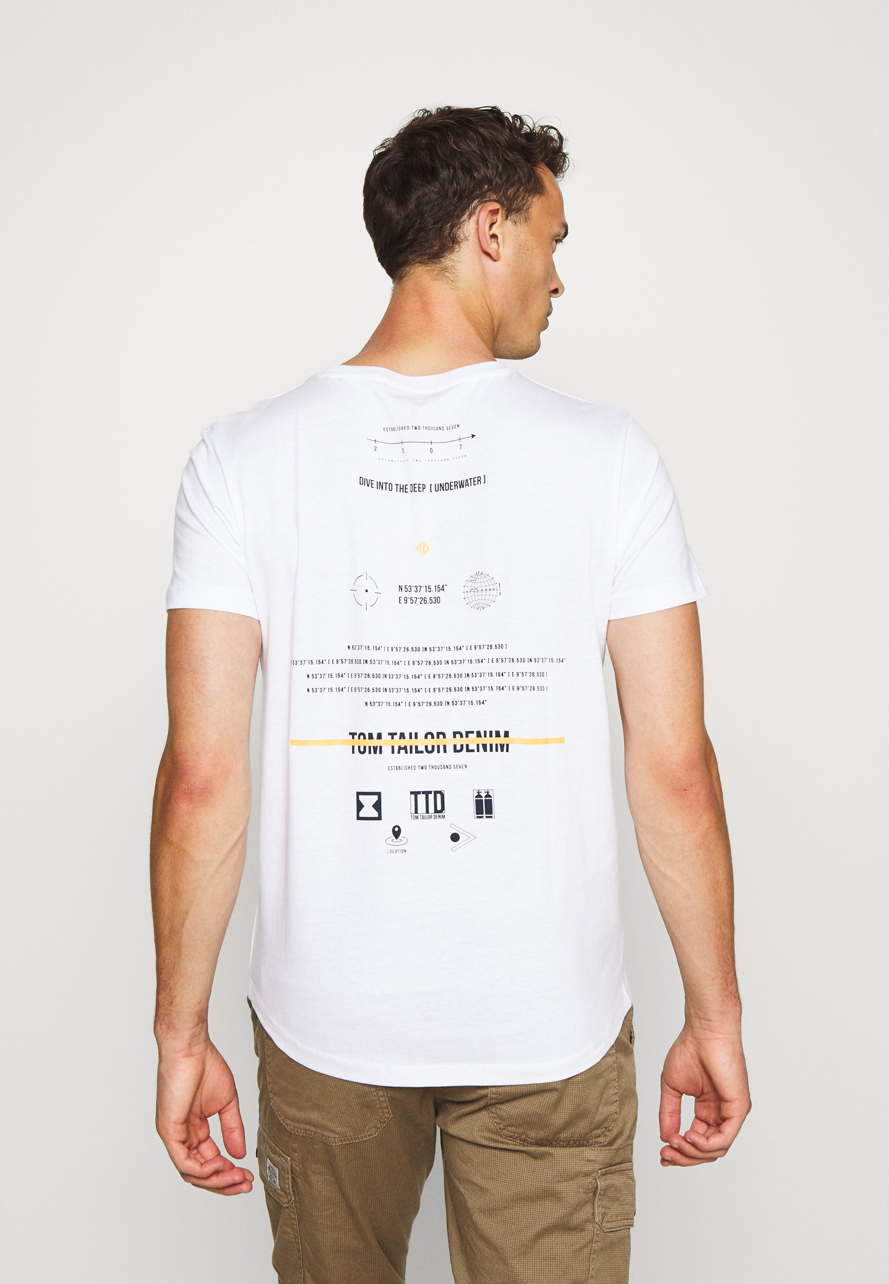 TOM TAILOR DENIM Print T-shirt - white g0sLj