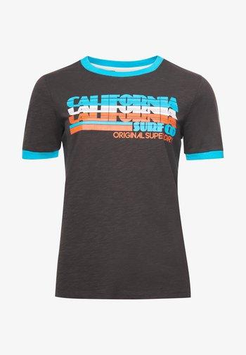 CALI SURF GRAPHIC RINGER - Print T-shirt - vintage black
