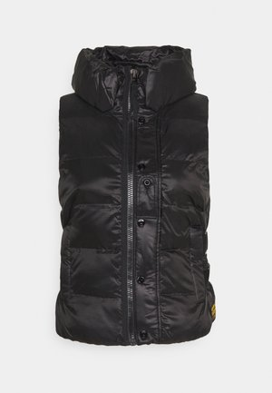 PADDED BELTED  - Bodywarmer - dark black