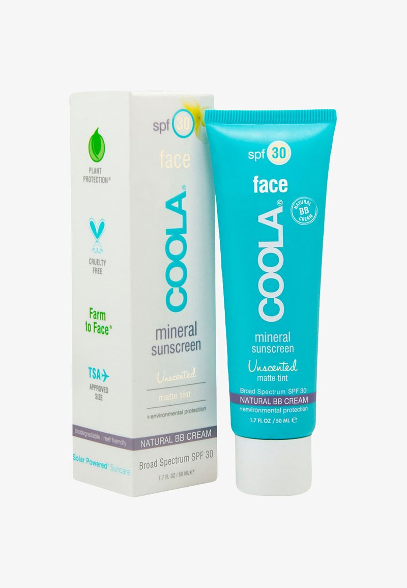 Coola - MINERAL FACE MATTE TINTED MOISTURIZER SPF 30 UNSCENTED - Sun protection - -