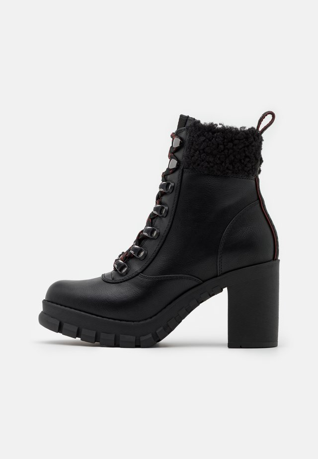 MILES - High heeled ankle boots - black
