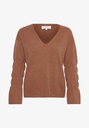 Pullover - russet melange