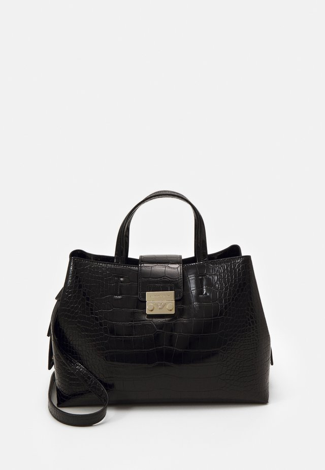 GIORGIA TOP HANDLE BAG CROCO SET - Handbag - black