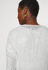 Abercrombie & Fitch - LOUISE OPEN STITCH  - Cardigan - white - 6
