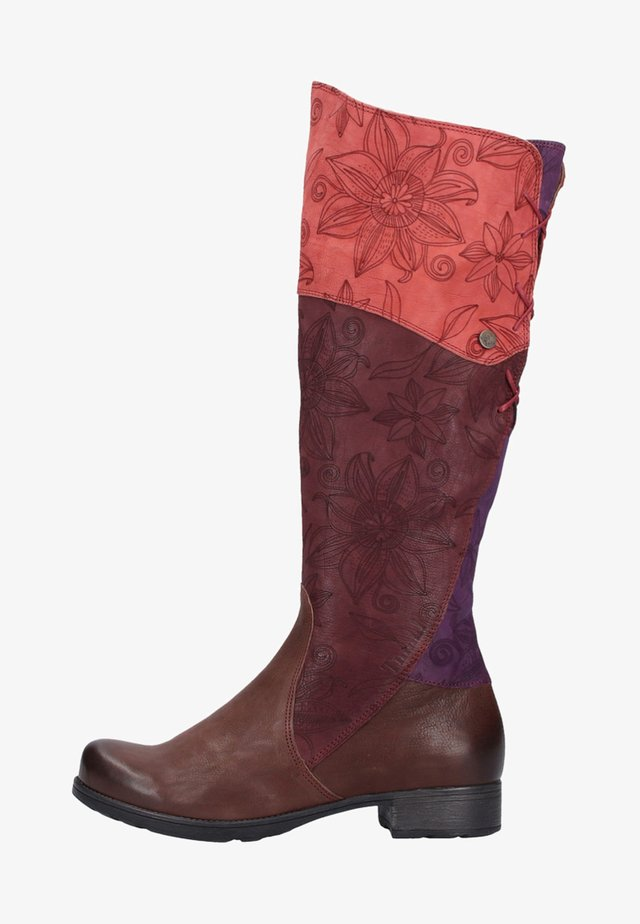 Over-the-knee boots - chianti