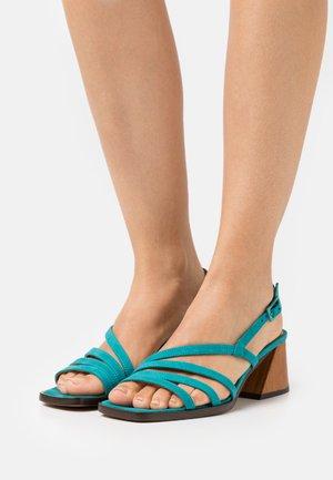 VEGAN HIPPY - Sandals - acqua