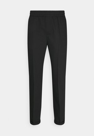 SAUL NICKEL PANTS - Tygbyxor - black