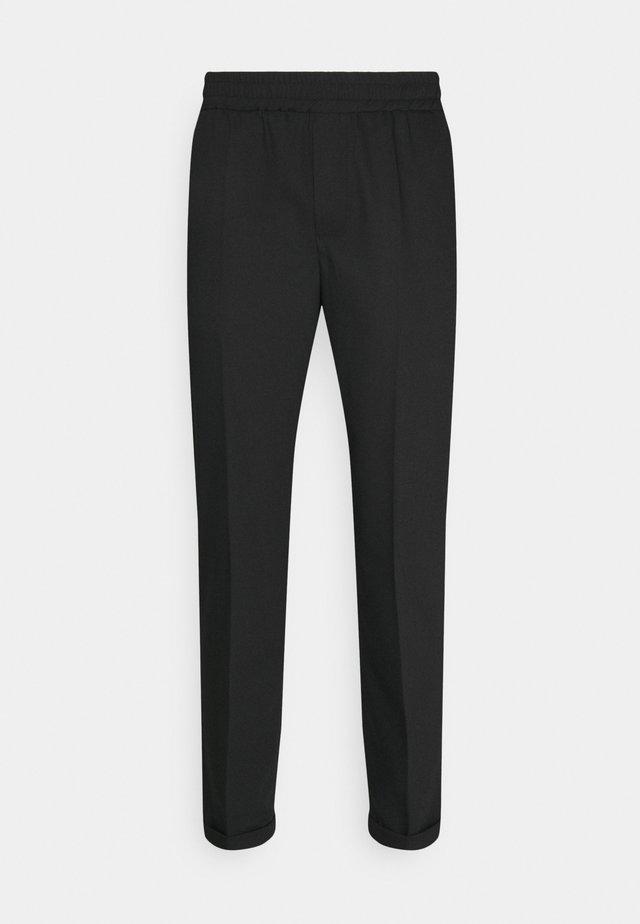 SAUL NICKEL PANTS - Kalhoty - black