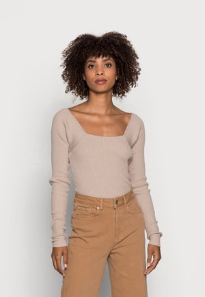 ALISHA - Long sleeved top - taupe