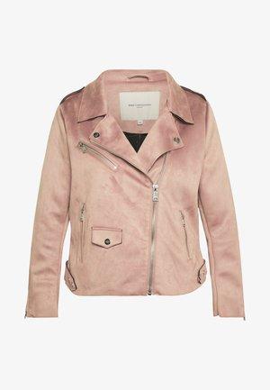 CARSHERRY BONDED BIKER - Faux leather jacket - burlwood