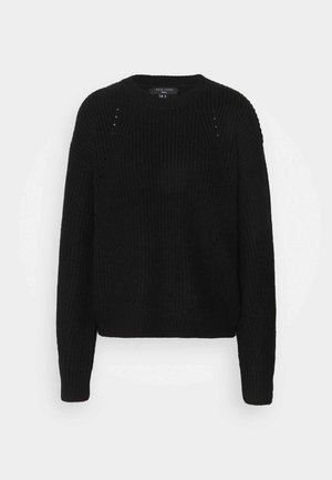 FASHIONED JUMPER - Jumper - black