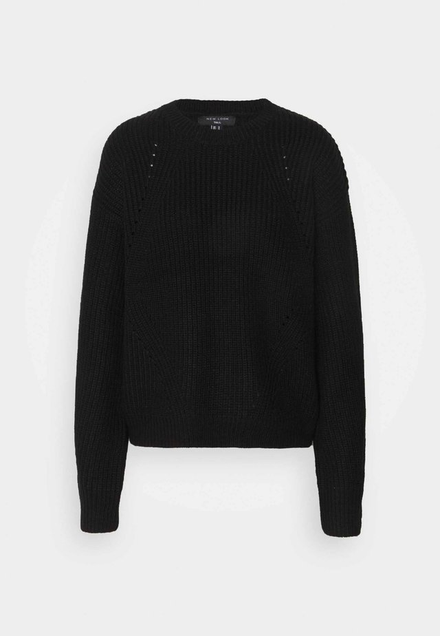 FASHIONED JUMPER - Pullover - black
