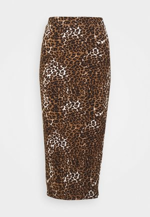 SKIRT - Spódnica ołówkowa  - black/beige