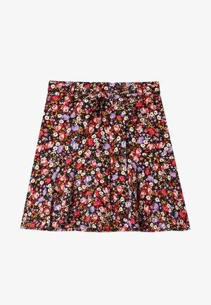 FLIESSENDER PRINT - A-line skirt - purple