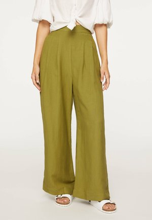 PALAZZO - Trousers - green