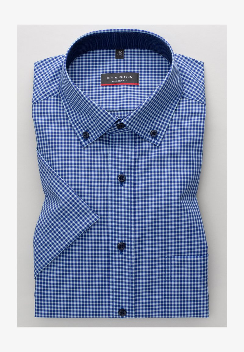 Eterna - MODERN FIT  - Shirt - türkis/blau