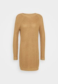Noisy May - NMSIESTA O-NECK DRESS - Jumper dress - camel - 4