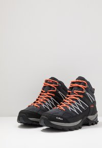 CMP - RIGEL MID TREKKING SHOES WP - Hiking shoes - antracite/flash orange - 2