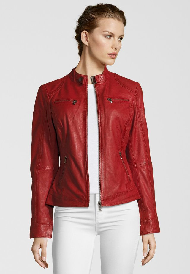DAGGI - Leather jacket - red