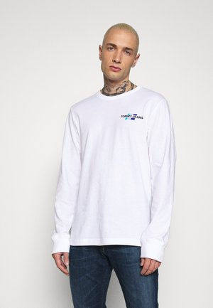 BACK MOUNTAIN GRAPHIC TEE - Long sleeved top - white