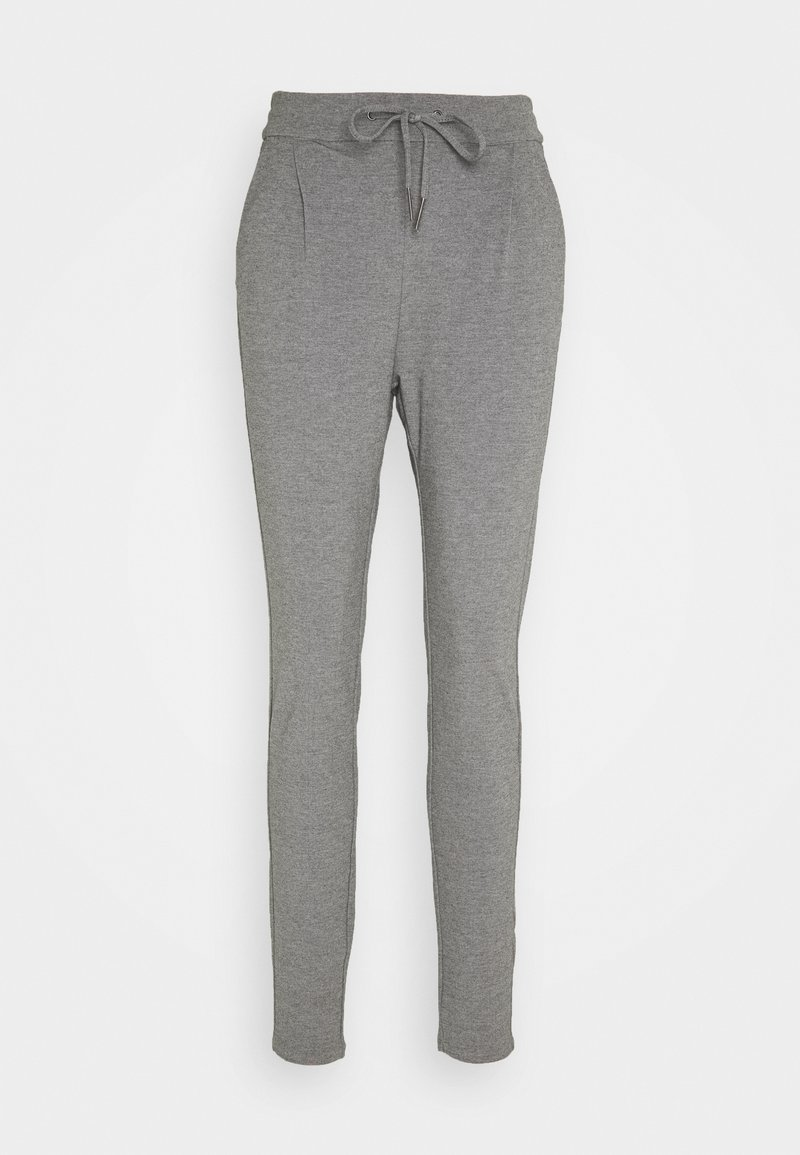 Vero Moda Tall - VMEVA LOOSE STRING PANTS  - Tracksuit bottoms - medium grey melange