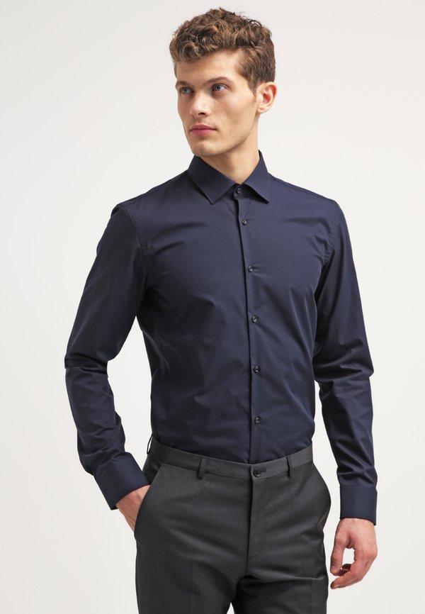 HUGO JENNO SLIM FIT - Koszula biznesowa - navy/granatowy Odzież Męska JZWM