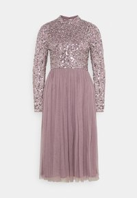 Maya Deluxe - DELICATE SEQUIN MIDI DRESS - Cocktail dress / Party dress - moody lilac - 6