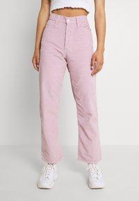 Levi's® - RIBCAGE STRAIGHT ANKLE - Trousers - pebble keepsake lilac - 0