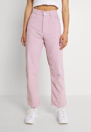 RIBCAGE STRAIGHT ANKLE - Trousers - pebble keepsake lilac