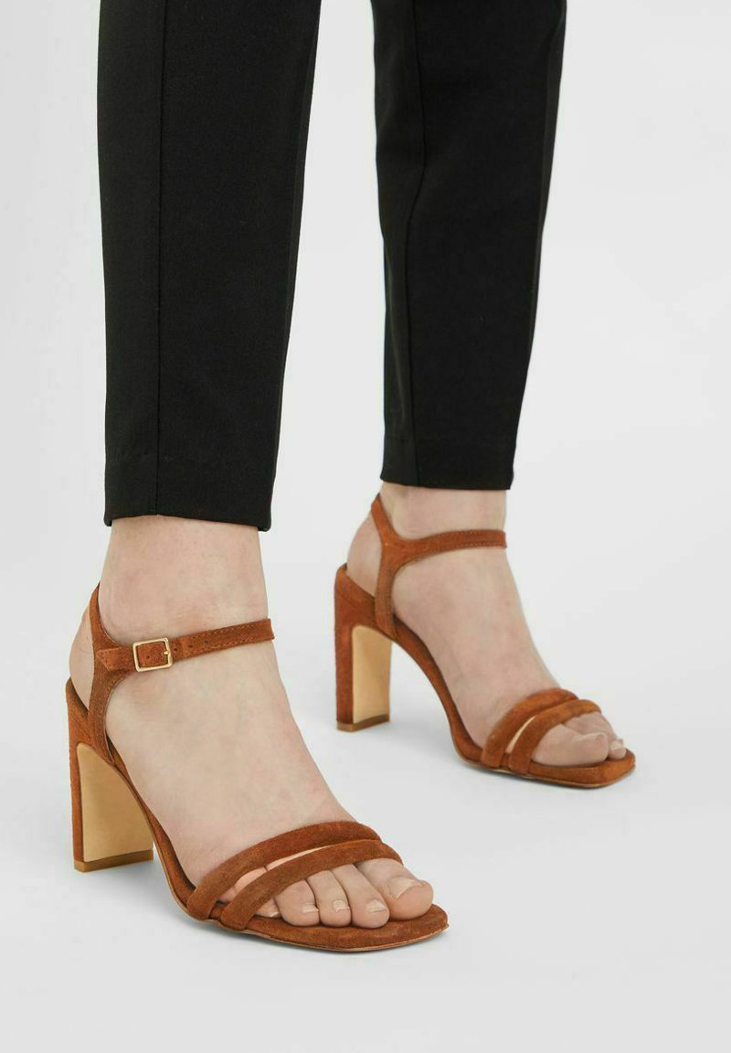 Bianco - BIADEEDEE - High heeled sandals - cognac