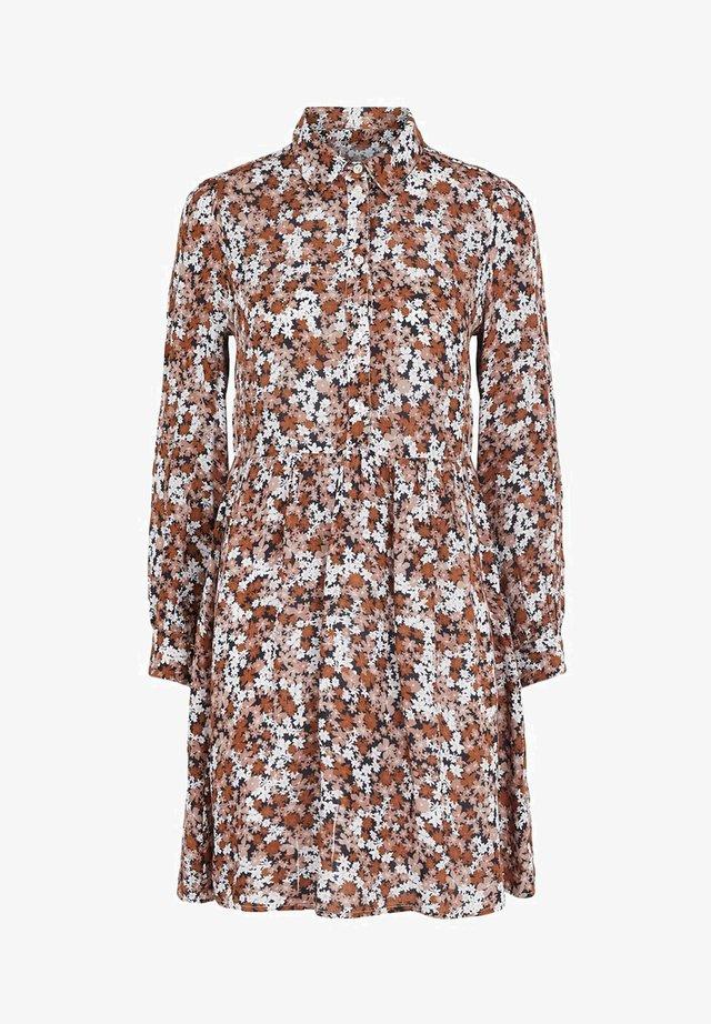 Shirt dress - mocha bisque