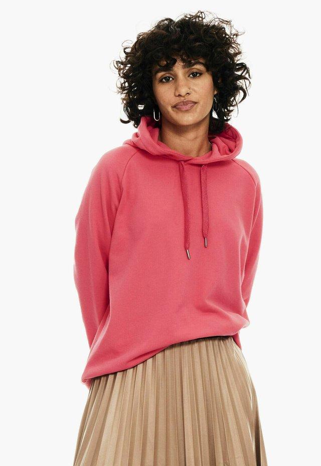Hoodie - fiery pink