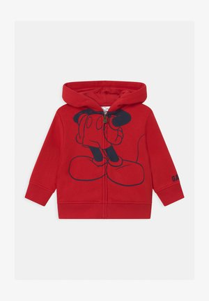 TODDLER BOY MICKEY MOUSE  - Hoodie met rits - modern red