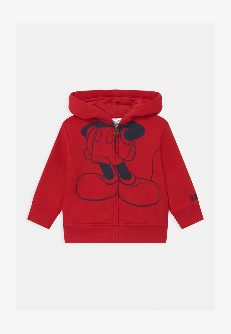 GAP - TODDLER BOY MICKEY MOUSE  - Hoodie met rits - modern red