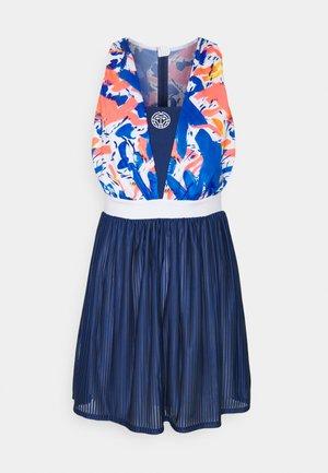 KAJA TECH DRESS 2-IN-1 SET - Sukienka sportowa - dark blue/neon red