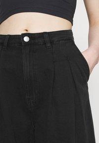 Monki - NANI PALAZZO - Jeans a sigaretta - black dark - 4