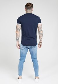 SIKSILK - Print T-shirt - dark blue - 2
